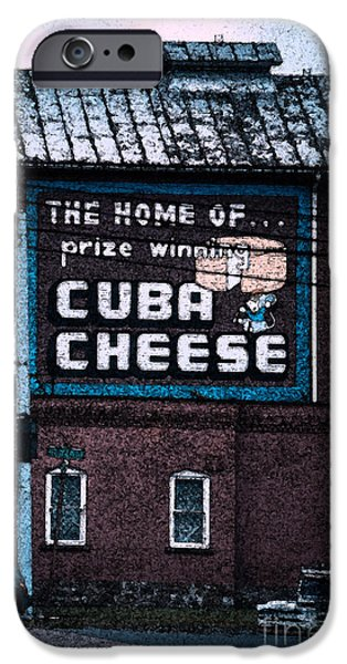 Business Photographs iPhone Cases - Cuba Cheese iPhone Case by Alicia Collins