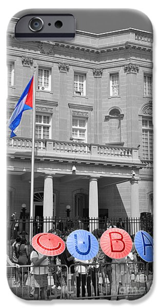 Police Officer iPhone Cases - Cuba Umbrella iPhone Case by Jost Houk