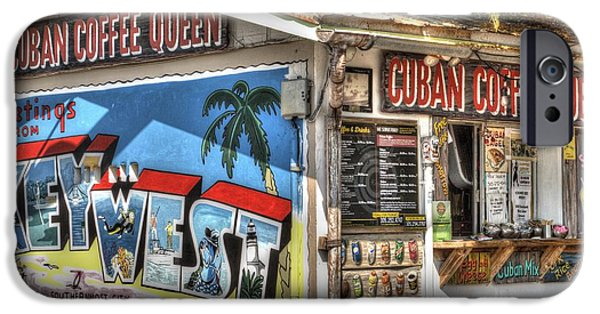 Mural Photographs iPhone Cases - Cuban Coffee Queen iPhone Case by Juli Scalzi