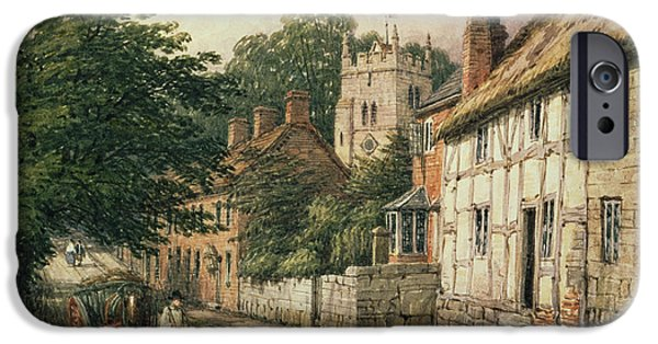 Pulling Paintings iPhone Cases - Cubbington in Warwickshire iPhone Case by Thomas Baker