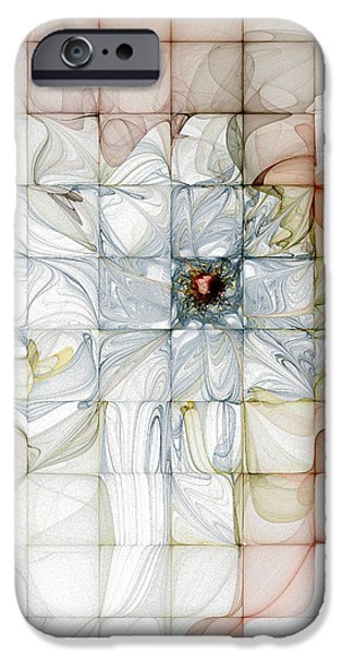 Abstract Digital Art iPhone Cases - Cubed Pastels iPhone Case by Amanda Moore