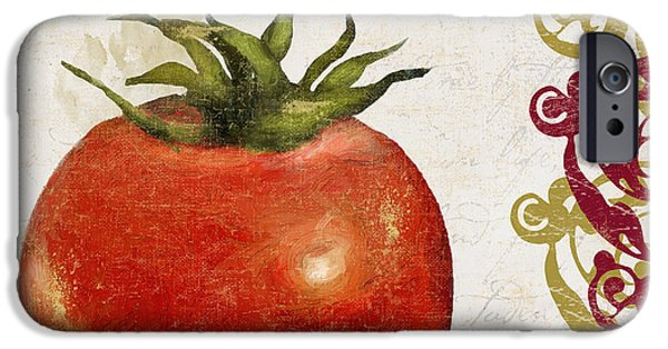 Spaghetti iPhone Cases - Cucina Italiana Tomato Pomodoro iPhone Case by Mindy Sommers