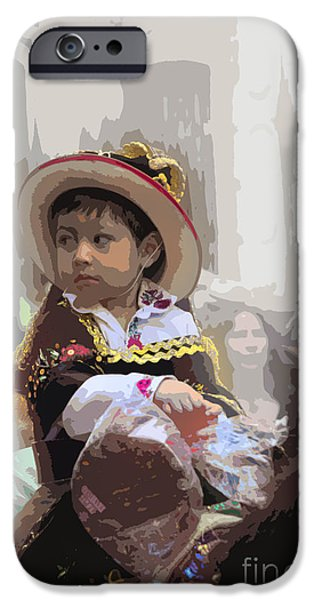 Christmas Eve iPhone Cases - Cuenca Kids 649 iPhone Case by Al Bourassa