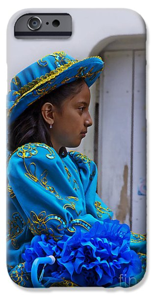 Innocence iPhone Cases - Cuenca Kids 671 Painting iPhone Case by Al Bourassa