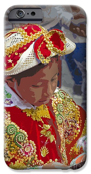Innocence iPhone Cases - Cuenca Kids 677 - Painting iPhone Case by Al Bourassa
