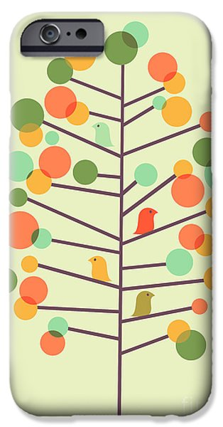 Sweet Digital iPhone Cases - Happy Tree - Tweet Tweet iPhone Case by Budi Kwan