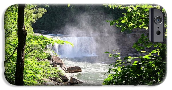 Mist iPhone Cases - Cumberland Falls iPhone Case by Patricia Lovelace