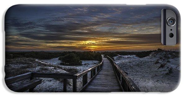 Beach Landscape iPhone Cases - Cumberland Island Sunrise iPhone Case by Jamie Anderson