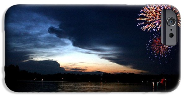 Fireworks Photographs iPhone Cases - Cup Fireworks iPhone Case by Ty Helbach