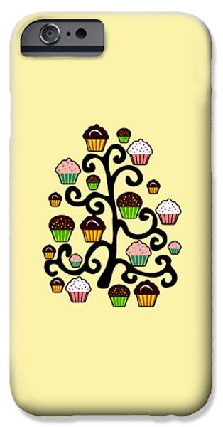 Kids iPhone Cases - Cupcake Tree iPhone Case by Anastasiya Malakhova