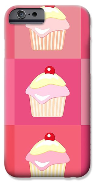 Cupcakes pop art  iPhone Case by Jane Rix