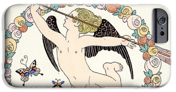 Cupid iPhone Cases - Cupid iPhone Case by Georges Barbier