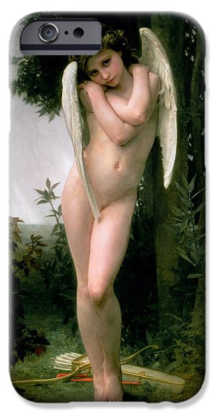 Cupid iPhone Cases - Cupidon iPhone Case by William Adolphe Bouguereau