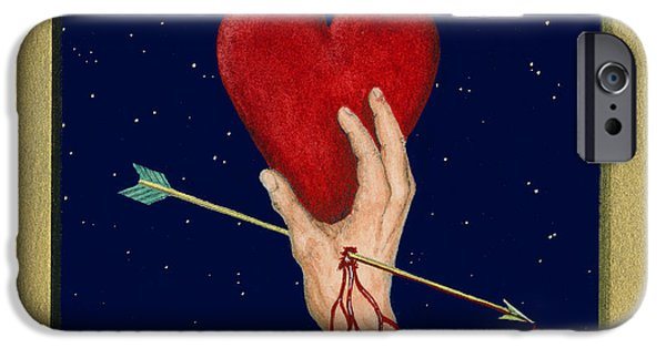 Cupid iPhone Cases - Cupids Arrow iPhone Case by Charles Harden