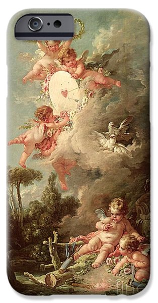 Recently Sold -  - Birds iPhone Cases - Cupids Target iPhone Case by Francois Boucher