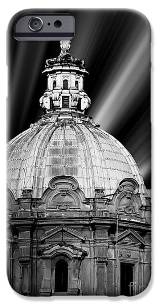 Old Digital Art iPhone Cases - Cupola in Rome iPhone Case by Stefano Senise