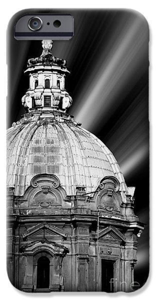 Concept Art iPhone Cases - Cupola in Rome iPhone Case by Stefano Senise