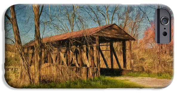 Covered Bridge iPhone Cases - Cuppetts New Paris Bridge iPhone Case by Lois Bryan