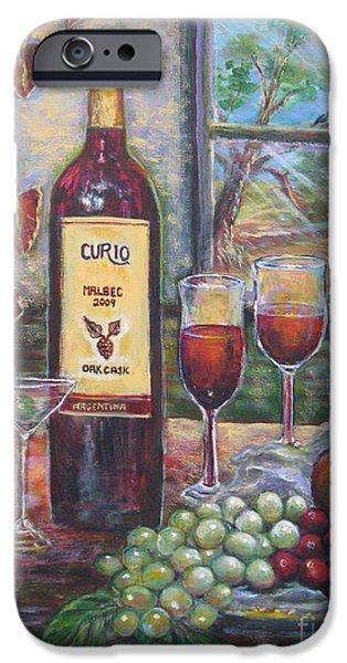 Wine Bottles iPhone Cases - Curio Wine iPhone Case by Cobie Schuchard