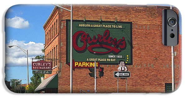 Juggling Photographs iPhone Cases - Auburn New York - Curleys Restaurant  iPhone Case by Frank Romeo