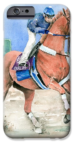 Year Of The Horse iPhone Cases - Curlin iPhone Case by Arline Wagner