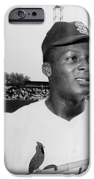 CURT FLOOD (1938- ) iPhone Case by Granger