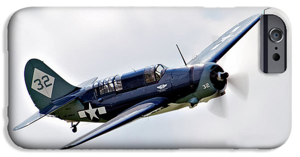 Ww Ii iPhone Cases - Curtiss Helldiver iPhone Case by Bill Lindsay