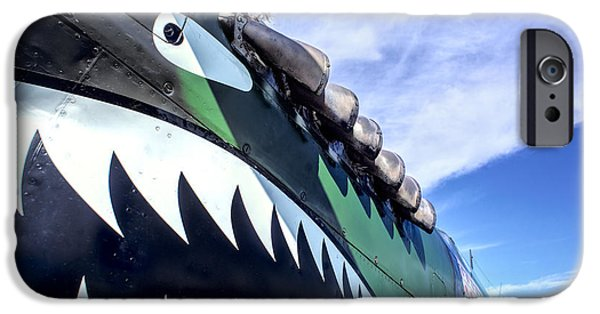 Weapon iPhone Cases - Curtiss P-40 Flying Tigers 2 iPhone Case by F Leblanc