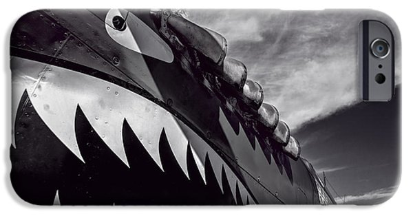 Weapon iPhone Cases - Curtiss P-40 Flying Tigers 2 v4 iPhone Case by F Leblanc