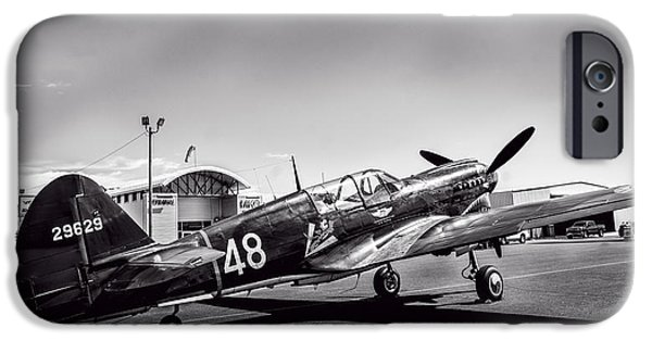 Weapon iPhone Cases - Curtiss P-40 Flying Tigers v3 iPhone Case by F Leblanc