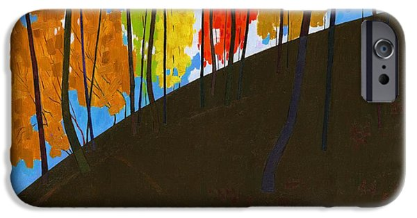 Abstract Seascape iPhone Cases - Curved Hill #60 iPhone Case by Alfred Prifti