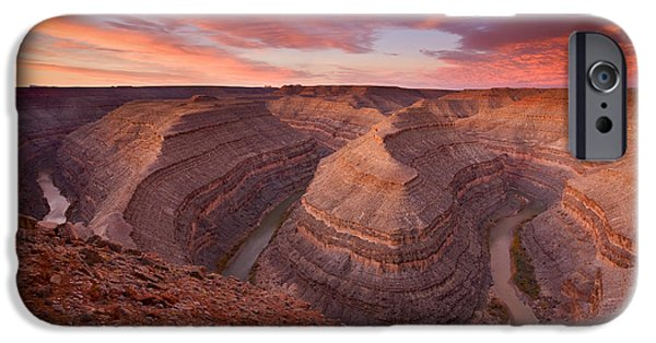Canyon iPhone Cases - Curves Ahead iPhone Case by Mike  Dawson