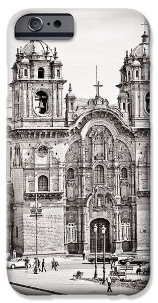 35mm iPhone Cases - Cusco Cathedral iPhone Case by Darcy Michaelchuk