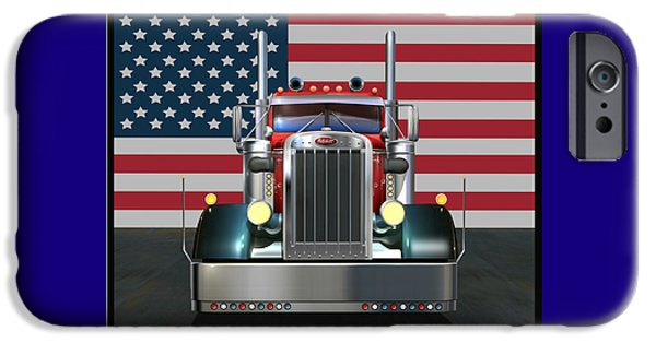 Best Sellers -  - July 4th iPhone Cases - Custom Peterbilt 2 iPhone Case by Stuart Swartz