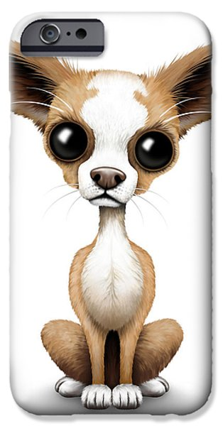 Best Sellers -  - Puppy Digital iPhone Cases - Cute Chihuahua Puppy  iPhone Case by Jeff Bartels