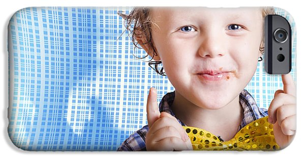 Recently Sold -  - One iPhone Cases - Cute smiling child enjoying Easter chocolate iPhone Case by Ryan Jorgensen