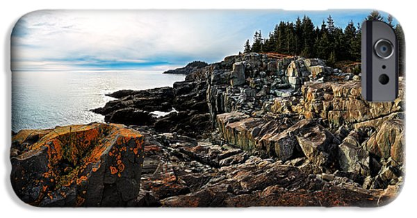 Ledge iPhone Cases - Cutler Coast Stillness iPhone Case by Bill Caldwell -        ABeautifulSky Photography