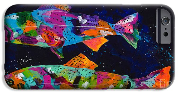 Splashy Paintings iPhone Cases - Cutthroats iPhone Case by Tracy Miller