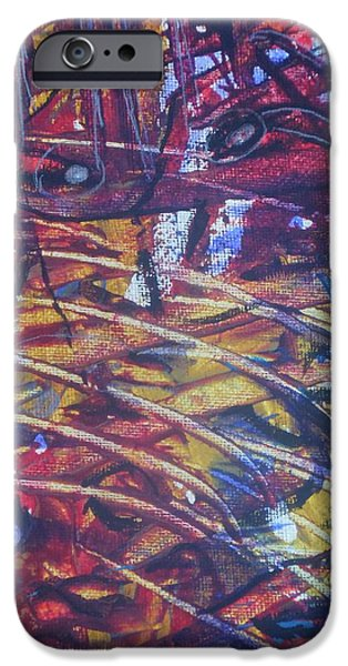 Etc. Paintings iPhone Cases - Cutting Through iPhone Case by Karen Butscha