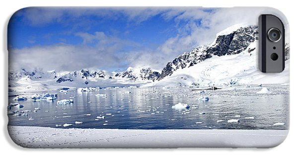 Lilachw iPhone Cases - Cuverville Island Antarctica iPhone Case by Lilach Weiss