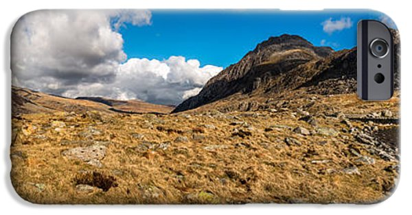 Winter iPhone Cases - Cwm Idwal Panorama iPhone Case by Adrian Evans