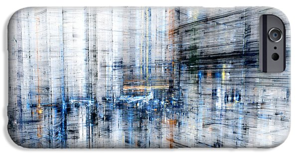 Cyberspace iPhone Cases - Cyber city iPhone Case by Martin Capek