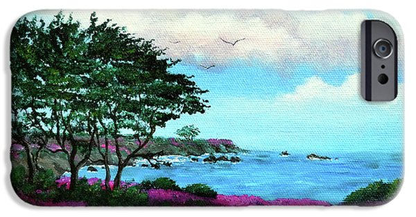 Cypress Trees iPhone Cases - Cypress Trees by Lovers Point iPhone Case by Laura Iverson