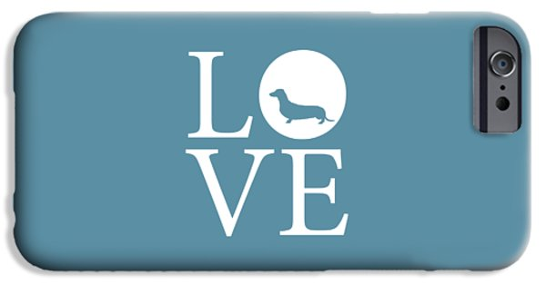 Owner Digital iPhone Cases - Dachshund Love iPhone Case by Nancy Ingersoll