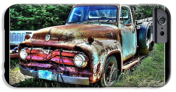 1956 Ford Truck iPhone Cases - Dads 1956 Ford Truck iPhone Case by Larry Wright