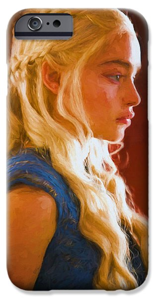 Celebrities Art iPhone Cases - Daenerys Targaryen Khaleesi I - Game Of Thrones iPhone Case by Nikola Durdevic