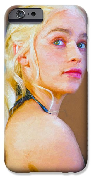 Celebrities Art iPhone Cases - Daenerys Targaryen Khaleesi II - Game Of Thrones iPhone Case by Nikola Durdevic