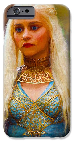 Celebrities Art iPhone Cases - Daenerys Targaryen Khaleesi III - Game Of Thrones iPhone Case by Nikola Durdevic