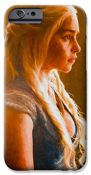 Celebrities Art iPhone Cases - Daenerys Targaryen Khaleesi IV - Game Of Thrones iPhone Case by Nikola Durdevic