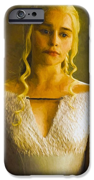 Celebrities Art iPhone Cases - Daenerys Targaryen Khaleesi V - Game Of Thrones iPhone Case by Nikola Durdevic